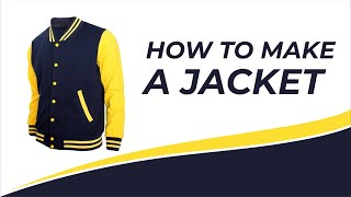 DIY HOW TO SEW A VARSITY JACKET . BASEBALL JACKET . cara membuat jaket baseball . jaket varsity