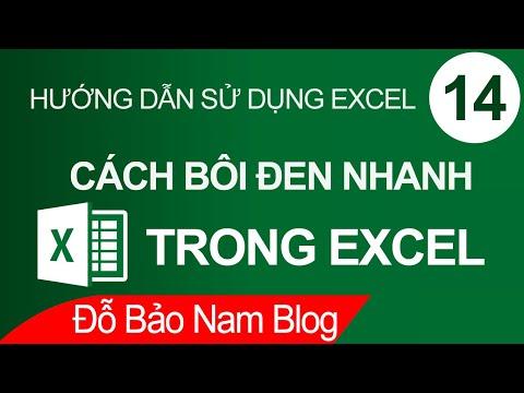 Học Excel Cơ Bản Online #14: Cách Bôi đen Nhanh Trong Excel