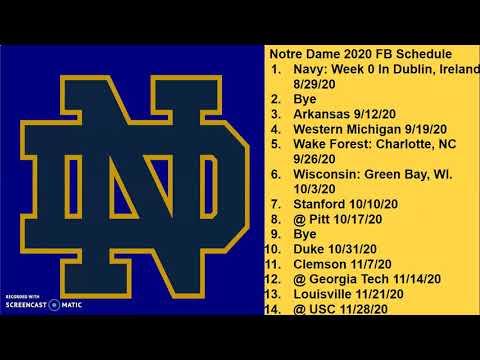 Notre Dame Fighting Irish 2020 Football Schedule Prediction