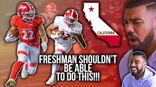 THE BEST FRESHMAN FOOTBALL PLAYER IN CALIFORNIA!!!- Amir Bankhead Highlights [Reaction]