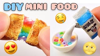 10 DIY MINIATURE FOR DOLLHOUSE | FOOD | Strawberrypuffcake