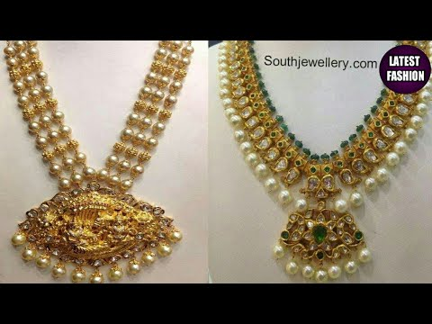 Gold Pearl Necklace Designs Indian Pearl Necklace Designs Youtube
