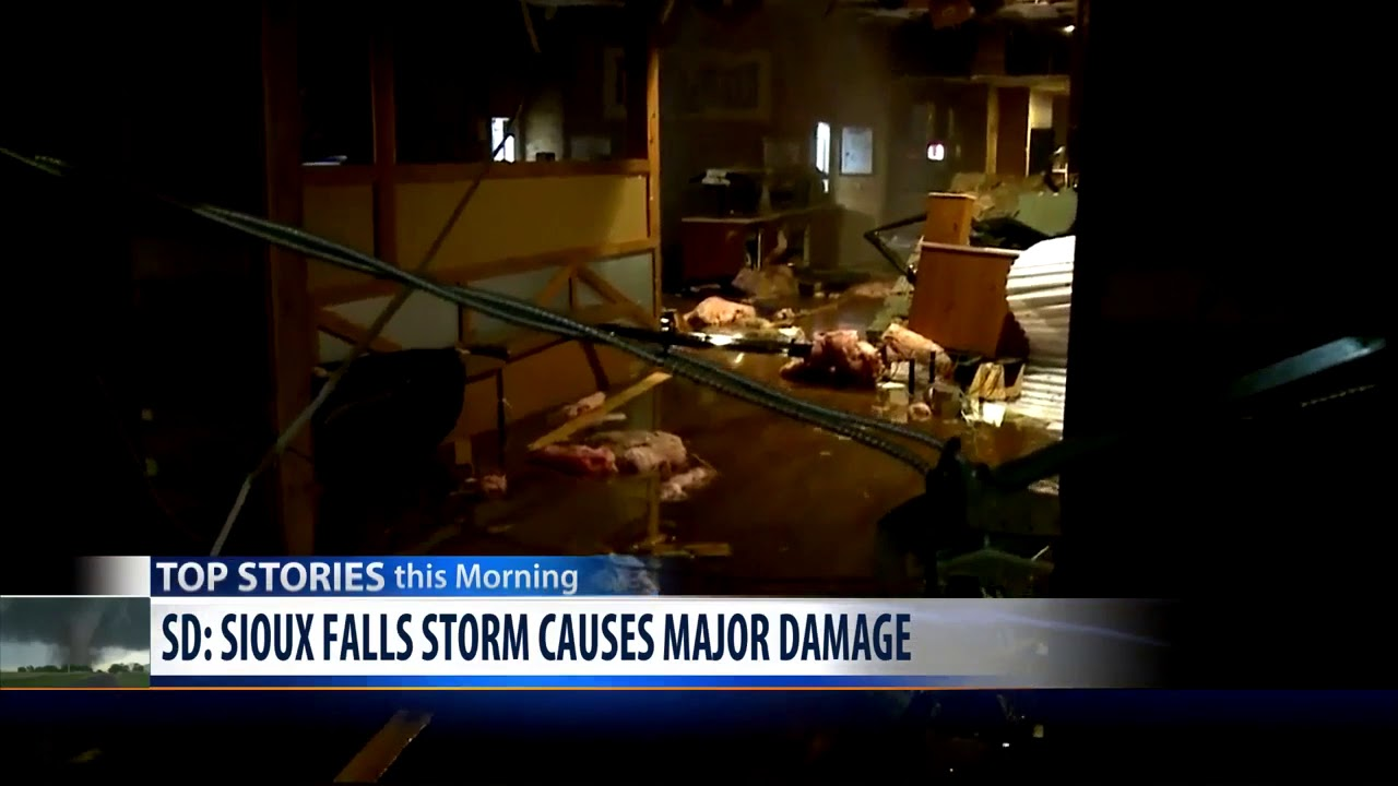 Likely Tornado Hits Sioux Falls