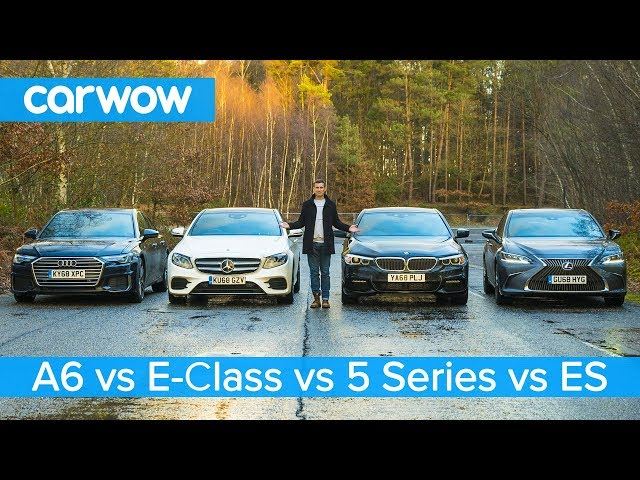 Audi A6 vs BMW 5 Series vs Mercedes E-Class vs Lexus ES - which is best?