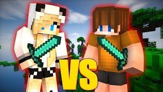КТО ЛУЧШЕ ИГРАЕТ? ДЕВУШКА VS ПАРЕНЬ - Minecraft Duels VimeWorld