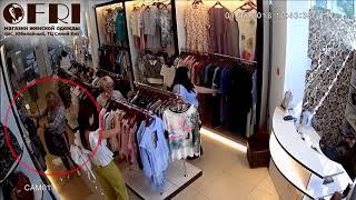 Кража женских шорт в саратовском торговом центре попала на видео