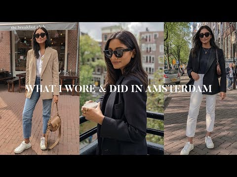 EVERYDAY CITY OUTFITS LOOKBOOK | AMSTERDAM VLOG