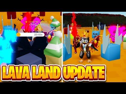NEW LAVA LAND IS INSANE (200Qa HP) | Unboxing Simulator