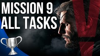 Metal Gear Solid 5 Phantom Pain - Backup Back Down All Tasks (Mission 9)