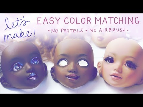 Let's Make! #2: Matching BJD Head Color w/o Pastels or an Airbrush