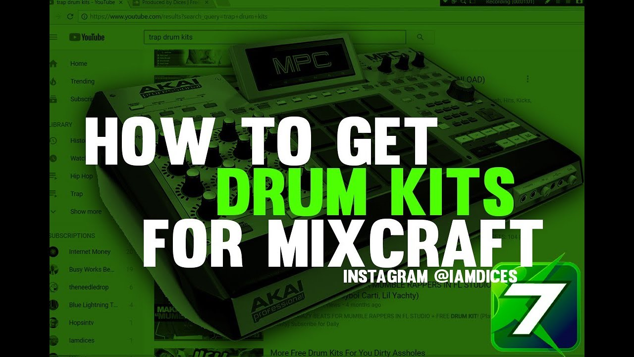How to Download Free Drum Kits for Omni Sampler & Alpah Sampler in Mixcraft  | @Iamdices