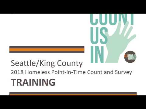 King County Volunteer Training 2018