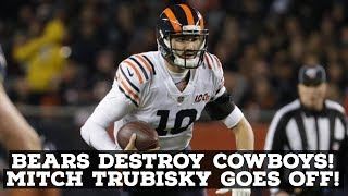 Chicago Bears DESTROY Dallas Cowboys On National TV! Mitch Trubisky Has MONSTER Game!