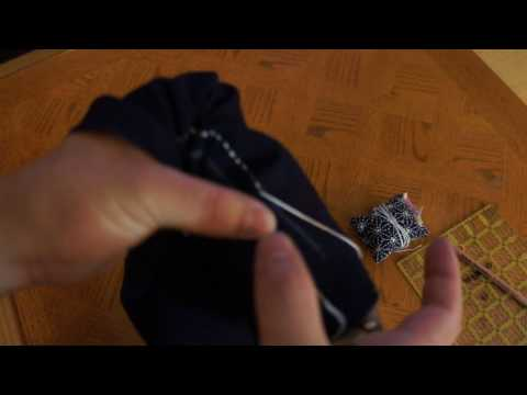 A set of 2 Sashiko Round-Shape Thimble