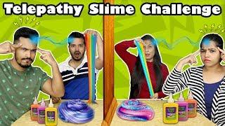 Twin Telepathy SLIME Challenge | Hungry Birds Slime Challenge