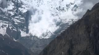 Avalanche on Annapurna 2 , Nepal