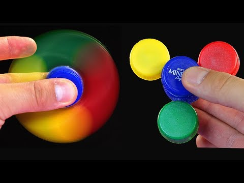 How To Make A Fidget Spinner Out Of Bottle Caps. WITHOUT BEARINGS.