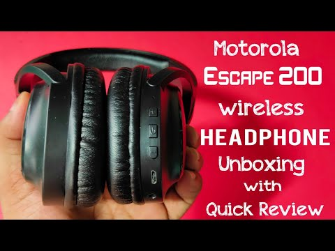 Motorola Escape 200 Wireless Headphone Unboxing with Quick Review Over the Ear Headphone | WepClick