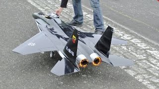 RC FORCED LANDING ON TARMAC - LARGE SCALE McDONNELL DOUGLAS F-15 EAGLE  - WOODBRIDGE - 2015