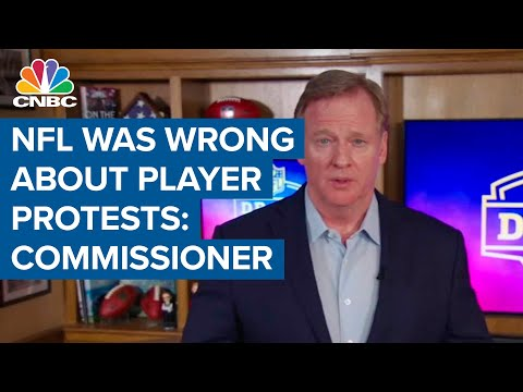 NFL's Goodell Admits League Wrong About Player Protests