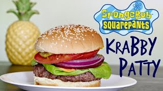HOW TO MAKE A KRABBY PATTY from Spongebob! | FICTION FOOD FRIDAY