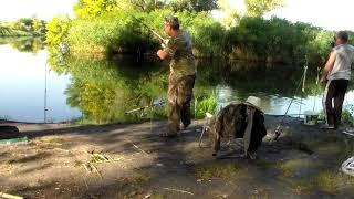 Огромный ЛИНЬ и много КАРАСЯ рыбалка удалась ! Ловля ковши 2018 Херсон