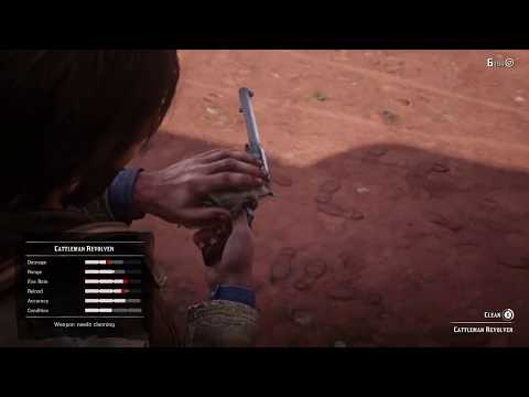 Red Dead Redemption 2 how to clean guns [XBOX ONE] [RDR2]