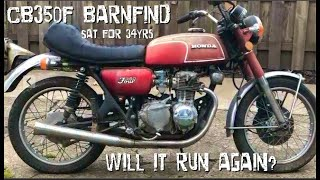 Honda CB350F Sat For 34 Years!  Will It Run Again?