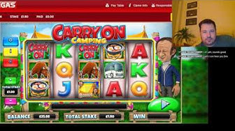 Stake and Chips CARRY ON CAMPING SLOT LIVE PLAY