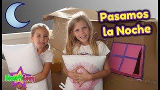24 HORAS EN MI CASITA DE CARTÓN!! PASAMOS LA NOCHE EN MI CASITA!! DANIELA DIVERTIGUAY