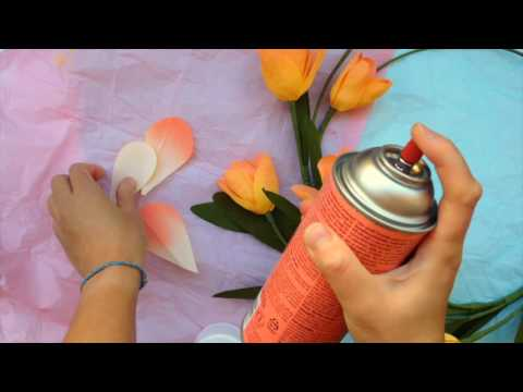 Papetal Introduction To Paper Flowers Spray Painting
