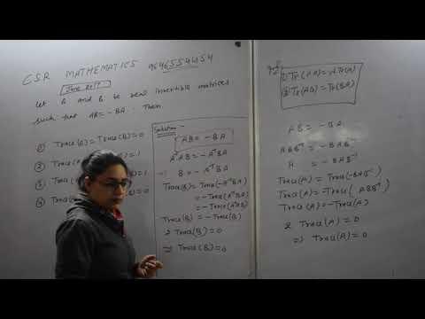 Csir Ugc Net Mathematics June 2017 Linear Algebra Important Question