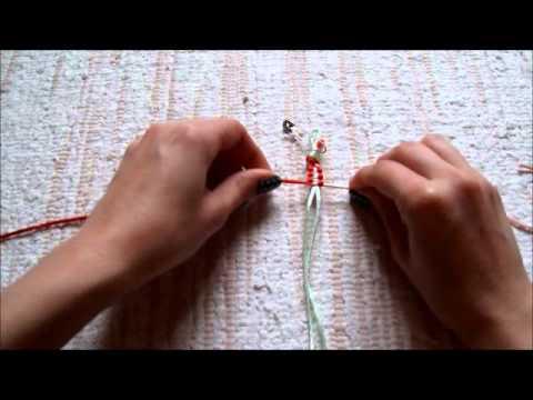 48a252d0c Uzlíkový náramok: štvorcový uzol (Square Knot Bracelet) - YouTube