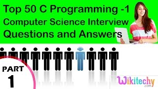Top 50 C Programming -1 cse technical interview questions and answers Tutorial for Fresher
