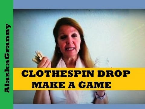 Easy Game To Make: Clothespin Drop