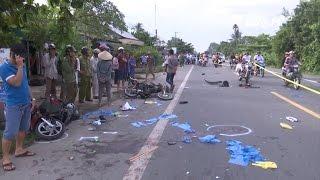 (VTC14)_Sóc Trăng: Ô tô đâm 3 xe máy, một người tử vong