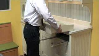 Removing a soft-close drawer box from our cabinetry