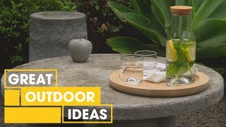 How to Make Furniture From Concrete | Outdoor | Great Home Ideas