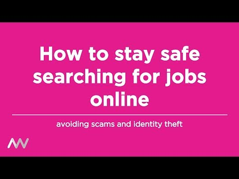 How to Stay Safe Searching for Jobs Online