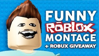 Roblox Funny Moments - Try Not To Laugh Challenge - LUCKY VIEWERS GET ROBUX !!
