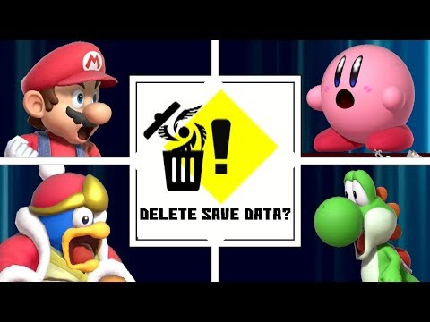 Evolution Of DELETING SAVE DATA In Super Smash Bros (1999-2019)