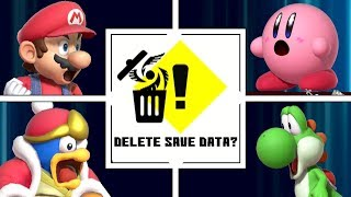 Evolution Of DELETING SAVE DATA In Super Smash Bros (1999-2019)