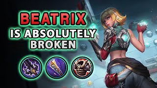 Wow! The New Hero Beatrix Is Definitely A Broken Marksman | Mobile Legends