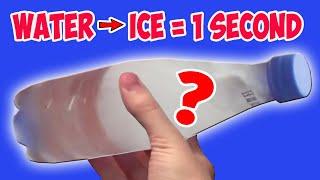 Моментальная заморозка воды (секрет)