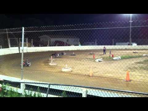 Snydersville Raceway, 7-6-12, Feature Race, Briggs Junior Class, Video #1