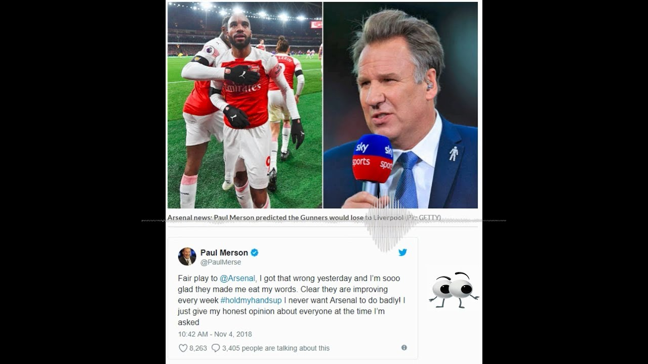 Paul Merson apologizes to Arsenal Fans | Liverpool couldn't beat Arsenal