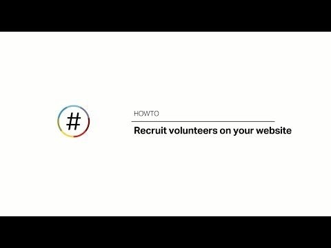 HOWTO Recruit Volunteers On Your Website