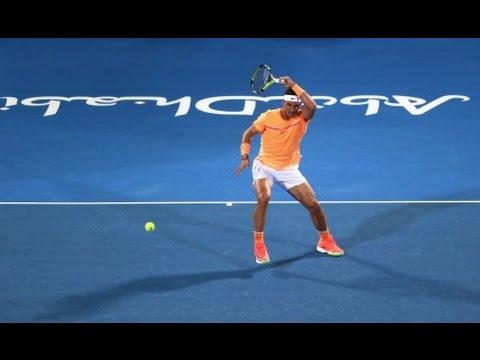 Rafael Nadal's 59 winners in Abu Dhabi 2016 (vs Berdych, Raonic and Goffin) in HQ