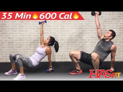 35 Min HIIT Workout for People Who Get Bored Easily - HIIT Workouts for Fat Loss at Home Men Women