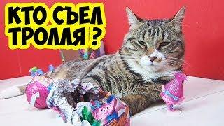 КТО СЪЕЛ ТРОЛЛЯ КОТ ТИГРА И ШОКОЛАДНЫЕ ЯЙЦА ТРОЛЛИ | Pet Cat и Trolls